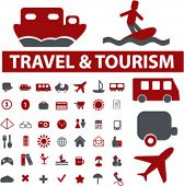 40 travel signs. vector