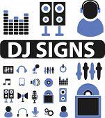 20 dj & party signs. vector