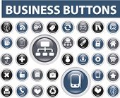 30 business buttons. vector