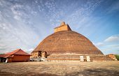 Jetavana Dagoba Is One Of The Central Landmarks In The Sacred World Heritage City Of Anuradhapura, S poster