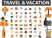 mega travel & vacation signs. vector