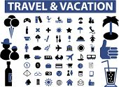 vacation & travel signs. vector