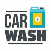 Car Wash Chemical Solution Logo. Flat Illustration Of Car Wash Chemical Solution Vector Logo For Web poster