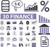 30 finance elements. vector