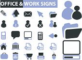 office & work signs. vector