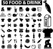 mega food & drink signs. vector