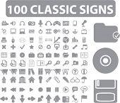 100 sinais clássicos. vector