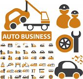 professional auto business signs. vector