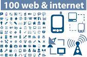 100 web & internet signs. vector