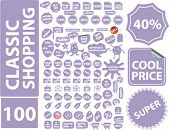 shopping 100 stickers