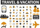 56 travel signs. vector