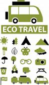 eco travel signs. vector