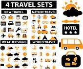 4 vector travel & vacation sets.
