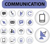 communication professional buttons. vector. see more vector signs in my portfolio