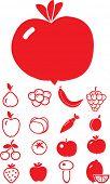 food & vegetables. vector