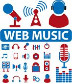 web music signs. vector