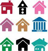 9 casas. vector