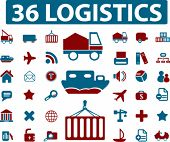 36 logistics signs. vector