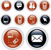 communication buttons. vector