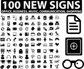 100 new signs, vector