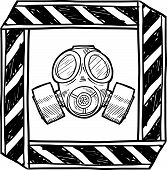 Gas mask warning