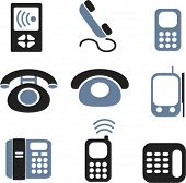 phone & calling icons, signs, vector illustrations