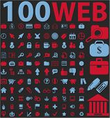 100 web icons, signs, vector illustrations