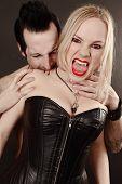 Female Vampire Bitten By Male