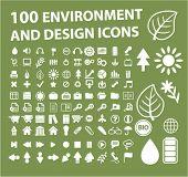 100 entorno & diseño de iconos, signos, ilustraciones de vectores