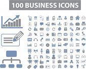 100 business icons, signs, vector illustrations