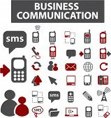 business communication icons, signs, vector illustration