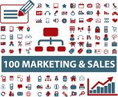 100 marketing & sales icons, vector