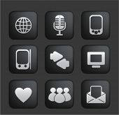 social network & web blog icons set, vector