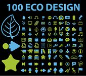100 design icons set, vector illustration