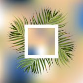 Print On T-shirts. Flower And Palm Wallpaper. Vector Jungle Illustration. Colorful Print On T-shirts poster