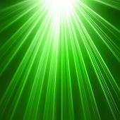 Green star burst background