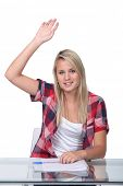 picture of bic  - Girl raising hand - JPG