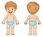 Illustration of young boy front and back - EPS VECTOR format also available in my portfolio.