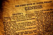 Old Antique Holy Bible Book Genesis Chapter Text