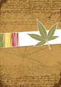 Rasta retro abstract  background, raster version.