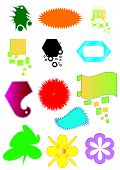 Vector, collection of colorful buttons