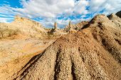 Stone Columns In A Desert