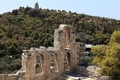 Details Of Wall Of Odeon Of Herodes Atticus