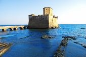 foto of saracen  - Torre Astura. A castle near Rome.It is a characteristic castle in the sea