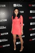 LOS ANGELES - 9 de fevereiro: Jordin Sparks chega a ROC NATION anual Brunch pré-Grammy à H do Soho