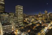 SAN FRANCISCO, CALIFORNIA - JAN 13: Night view of Nob Hill tourist area.  San Francisco's 80% hotel
