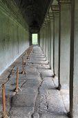 Stone Hallway At Angkor Wat, Cambodia