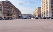 Tverskaya Street From Manege Square In Moscow