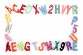 Photo of Colored alphabet frame