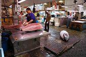 Thunfisch am Fischmarkt von Tokio